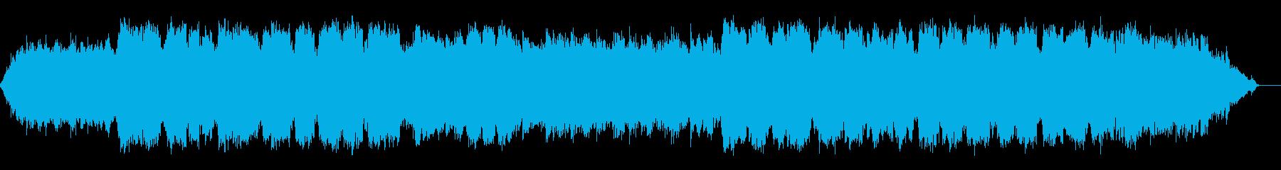 竹笛の低い音色の静かなヒーリング音楽の再生済みの波形