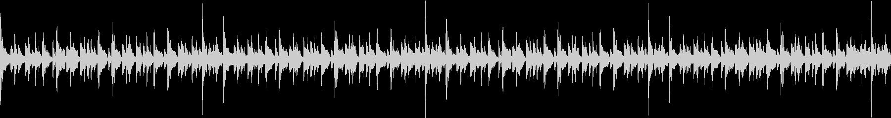 エレピソロで疾走感のある16ビートループの未再生の波形