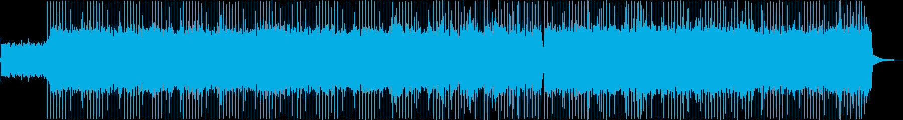 バトルに合うギターメインのメタル曲の再生済みの波形
