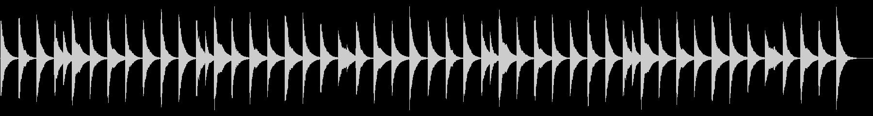 ゆったりした優しいオルゴールの未再生の波形