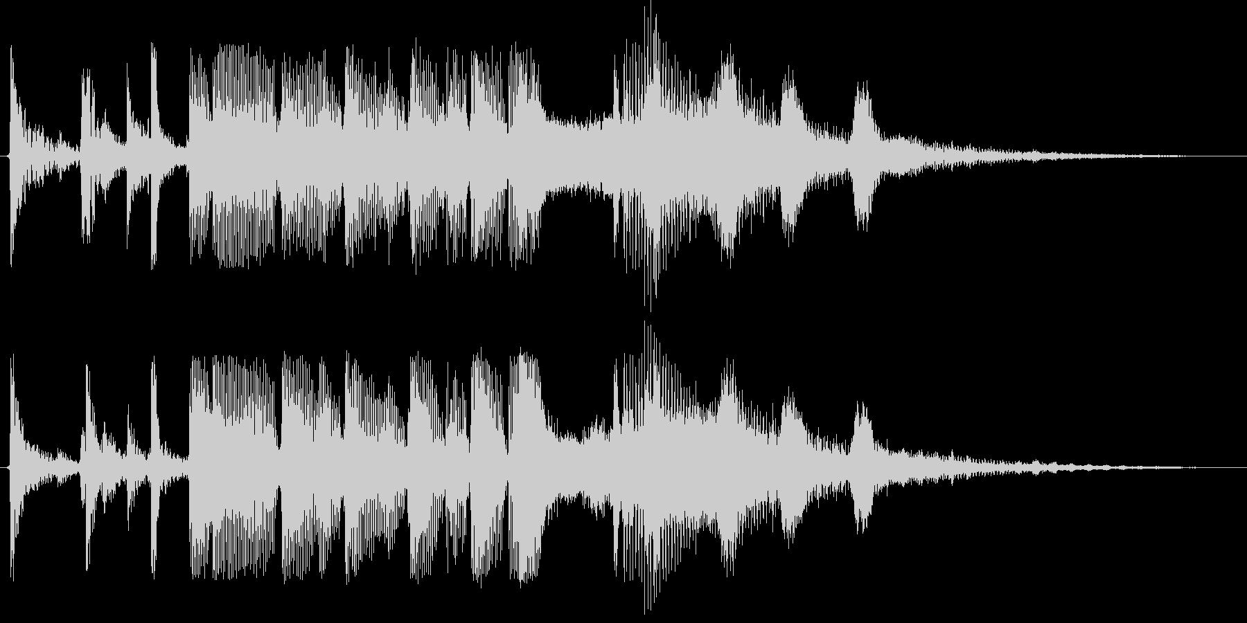 クイズの終わり 犬の鳴き声いりの未再生の波形