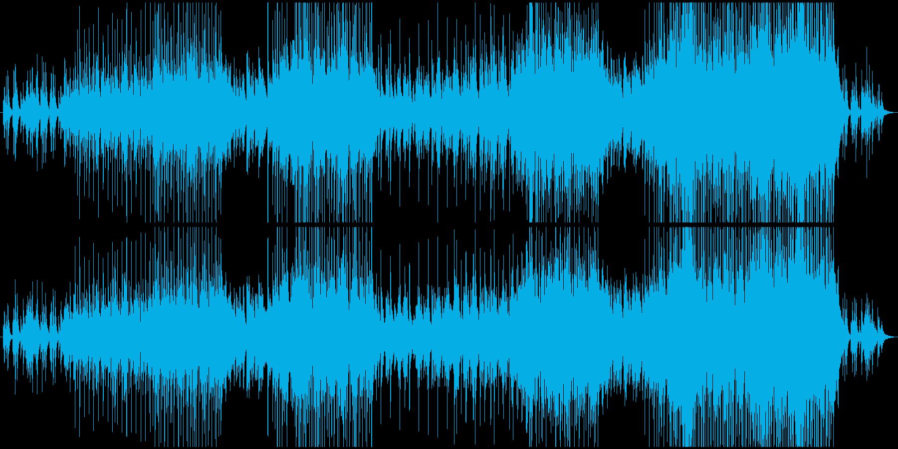 太陽のように温かいピアノバラードの再生済みの波形