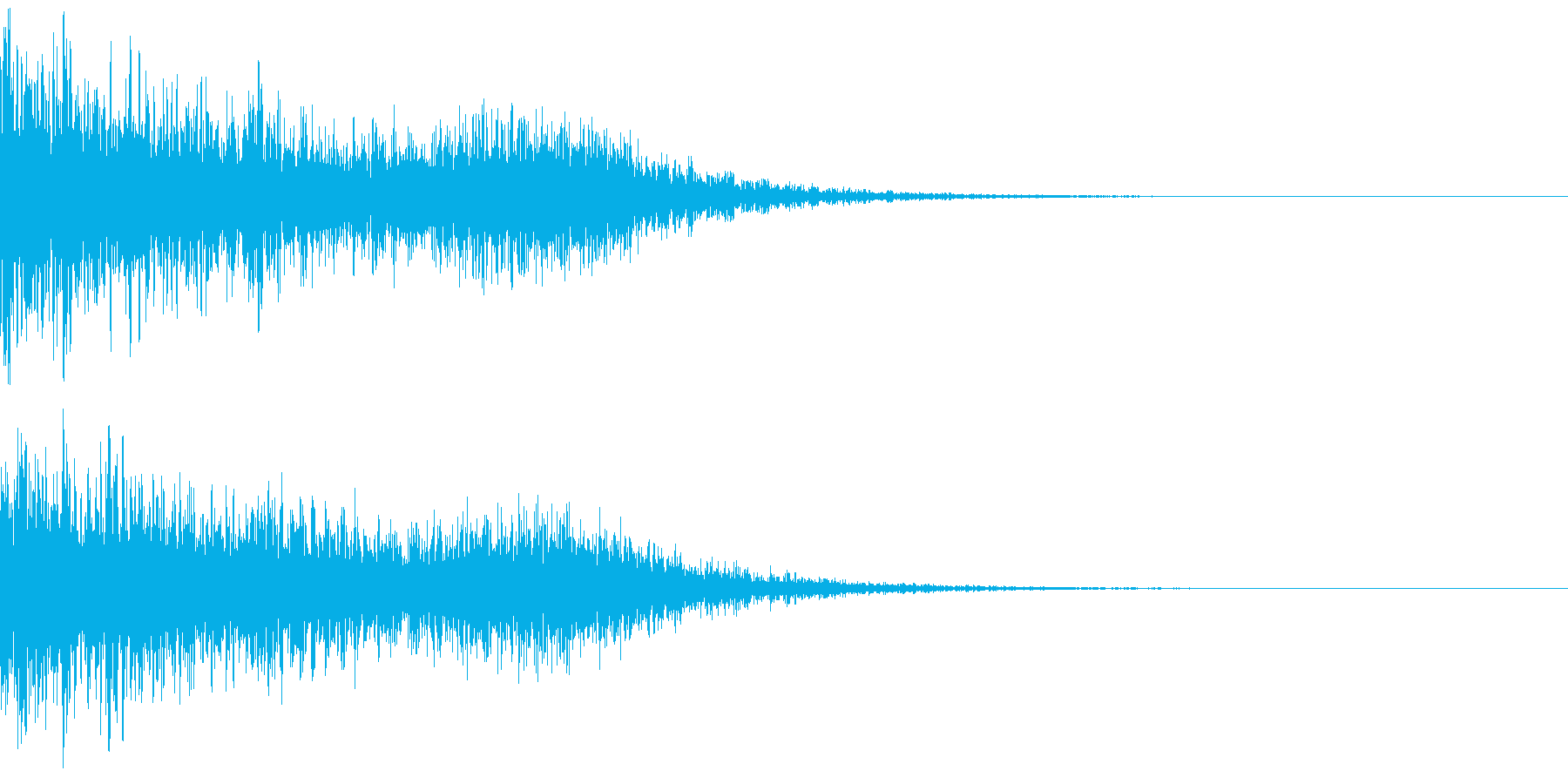 タイトルからのスタート音の再生済みの波形