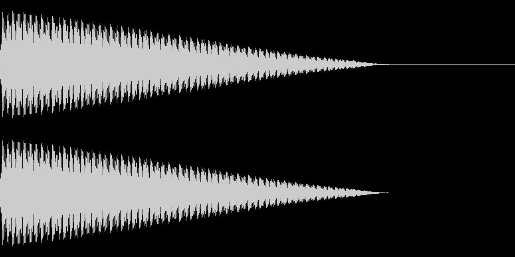 ビー(エラー/警告/アラート/ミスの未再生の波形