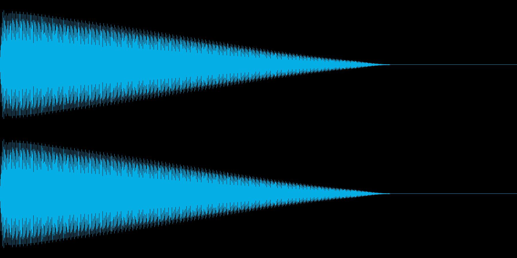 ビー(エラー/警告/アラート/ミスの再生済みの波形