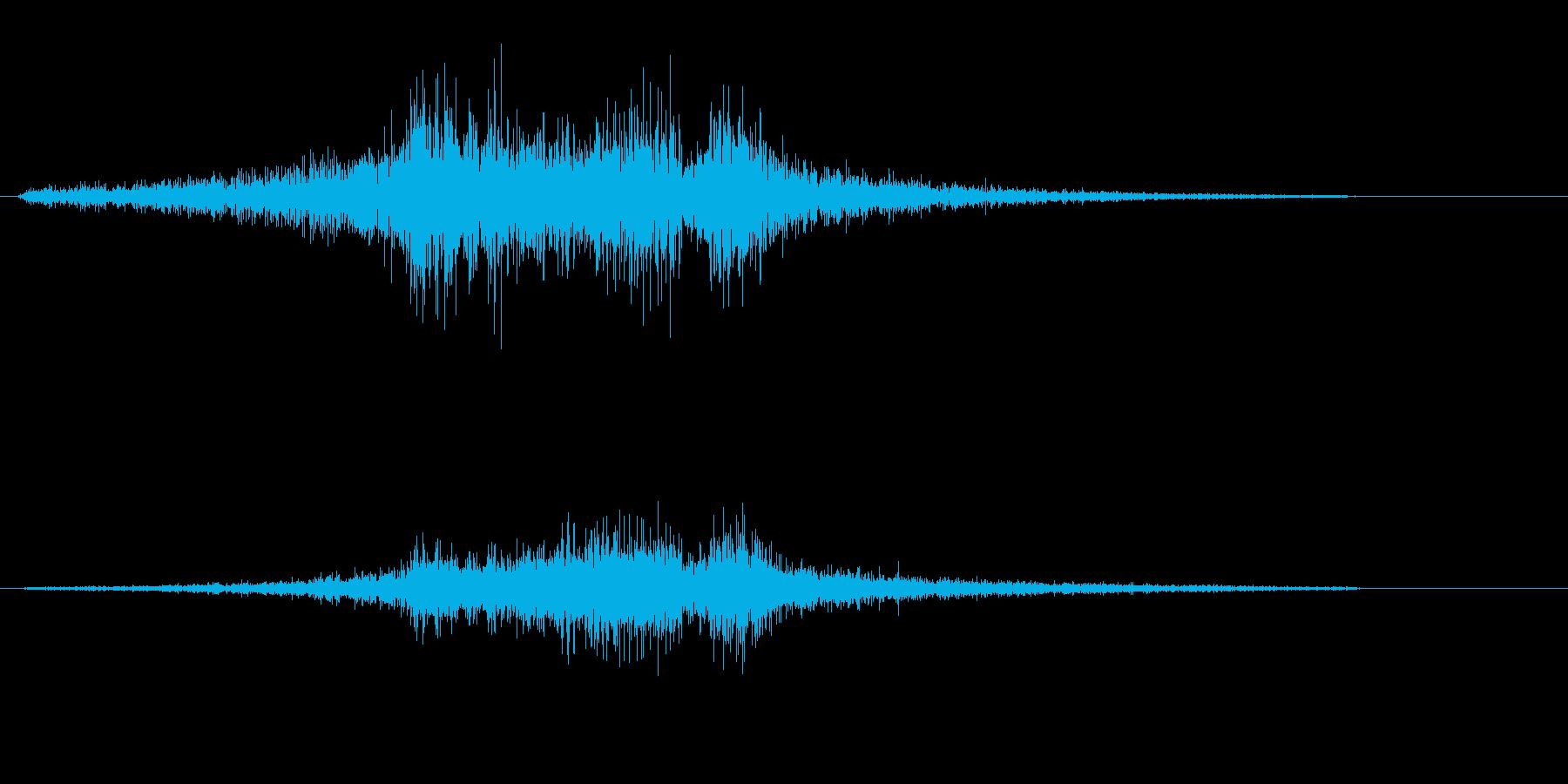 シュンと駆け抜けるスピード音の再生済みの波形