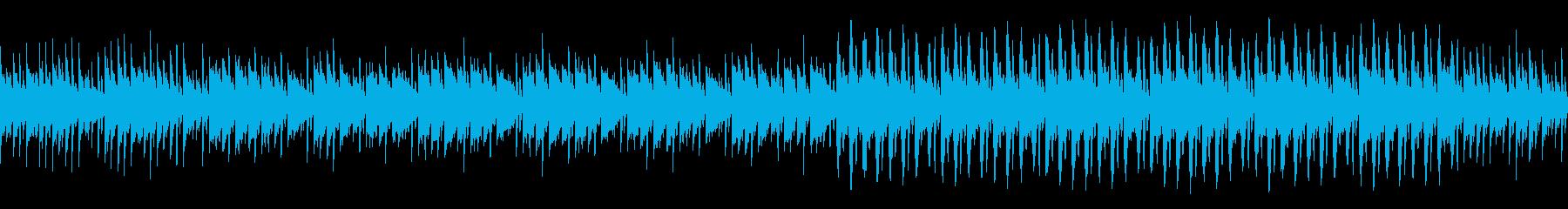 ポップなBGMアレンジの再生済みの波形