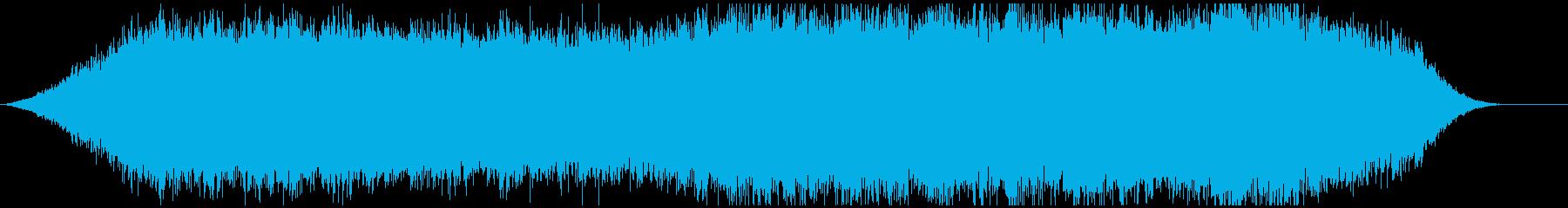 神秘的な雰囲気のアンビエント背景音6ー2の再生済みの波形