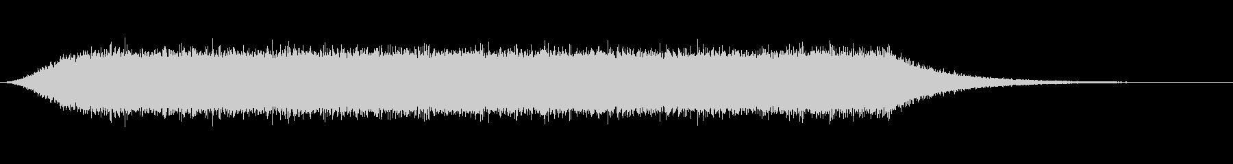 自然の音シリーズ 雨の未再生の波形