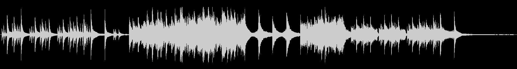 ピアノとストリングスの切ない雰囲気の未再生の波形