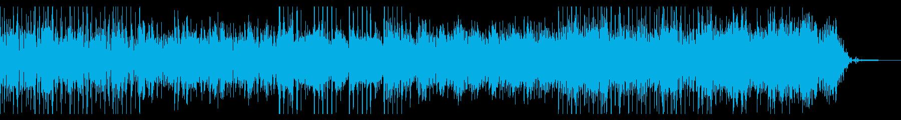 テクノがかったデジタルで不思議なBGMの再生済みの波形