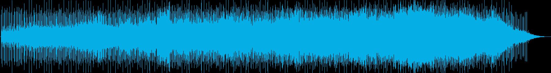 ユニークでベースが印象的なテクノの再生済みの波形