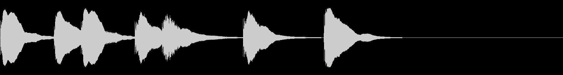 とてもシンプルでかわいい木琴おジングルの未再生の波形