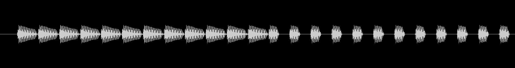 コンピューター作業;速いビープ音。の未再生の波形