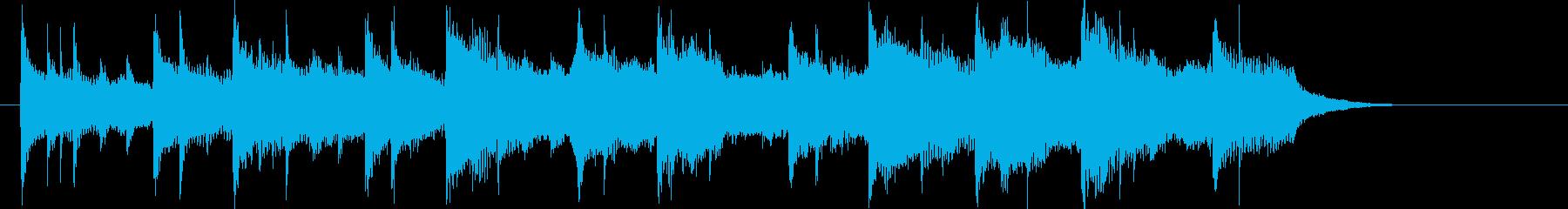 スローテンポで不思議な落ち着きの短い曲の再生済みの波形