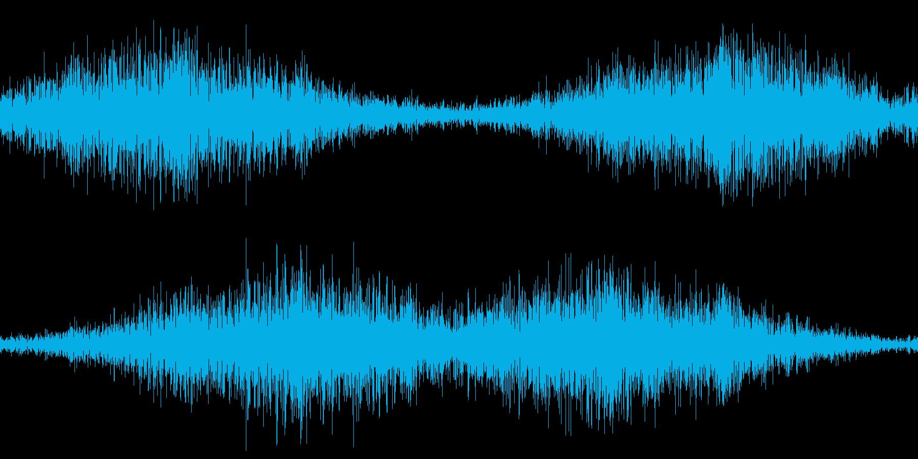 無限ループする地響き(左右揺れ)の再生済みの波形