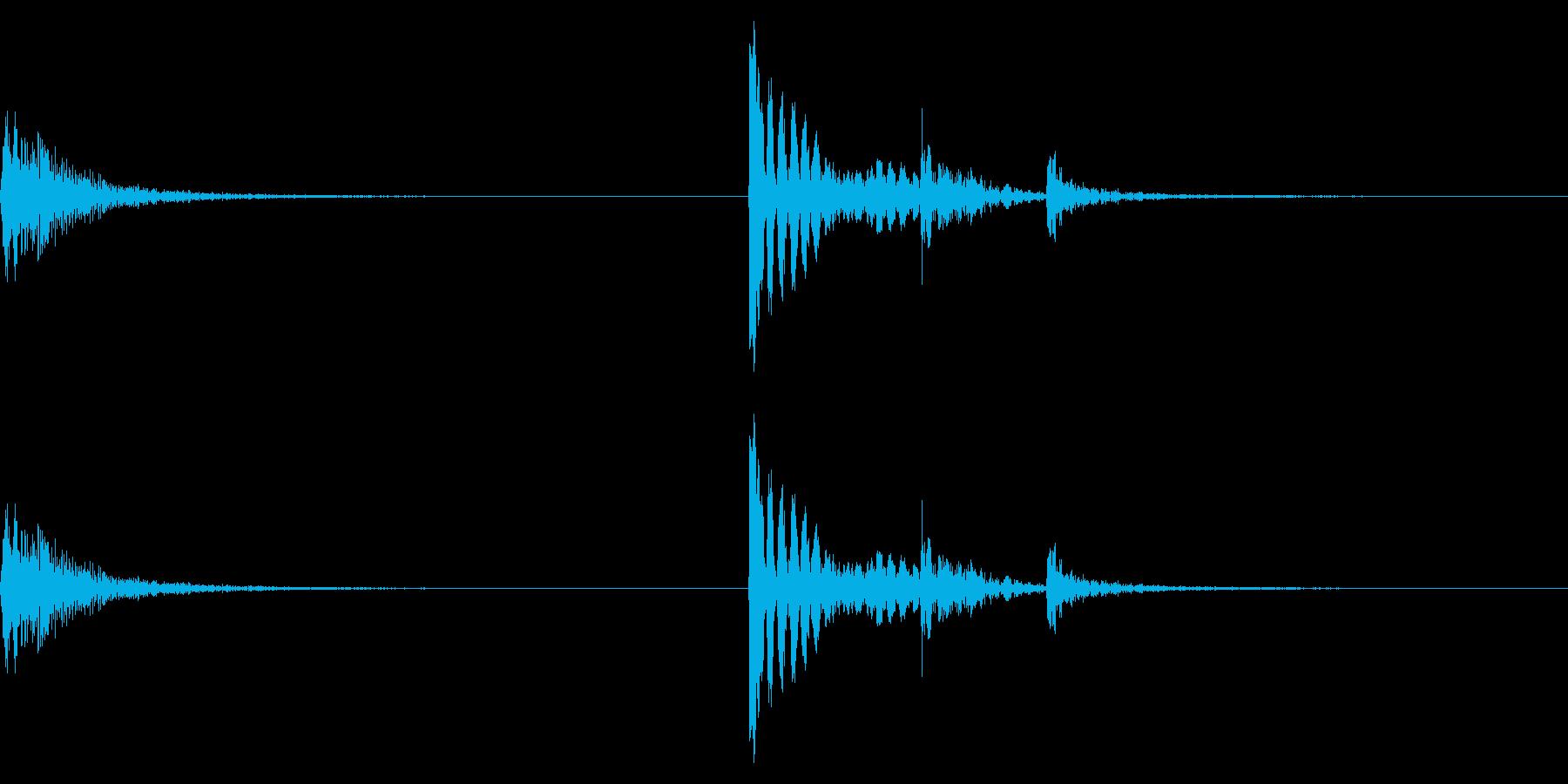 【生録音】金属製フックをかける音 1の再生済みの波形