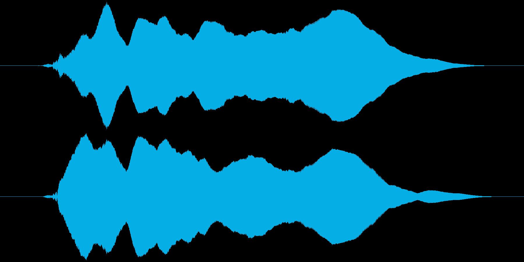 オノマトペ(ゆっくりと下降)ヒヨーォーゥの再生済みの波形