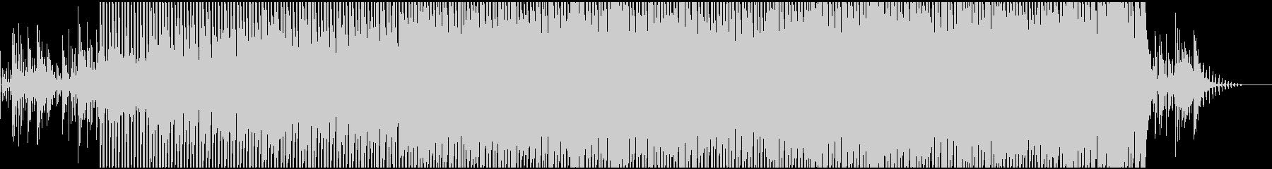 パワフルなテクノサウンドの未再生の波形