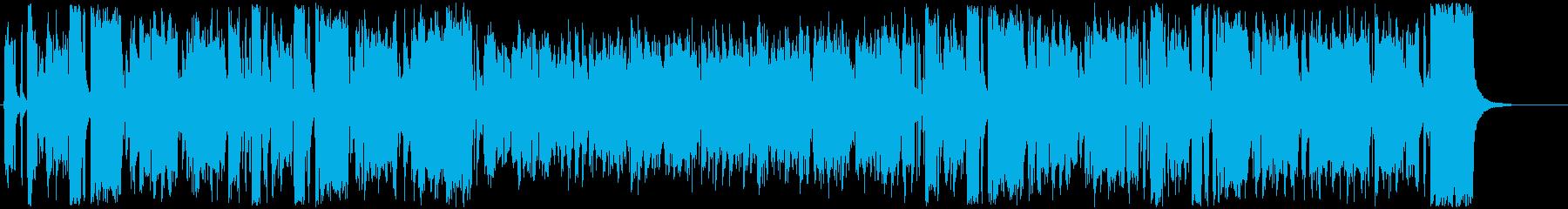 ほのぼのしたアコーディオンBGMの再生済みの波形