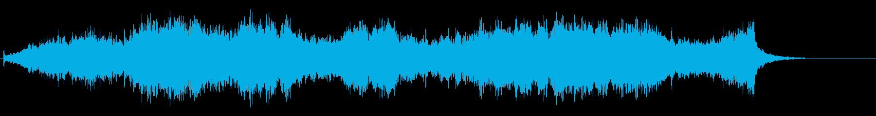 ホラー要素のあるクワイアの再生済みの波形