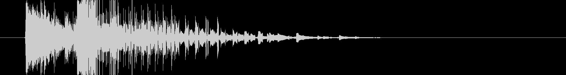 ドラムキックバージョン3の未再生の波形
