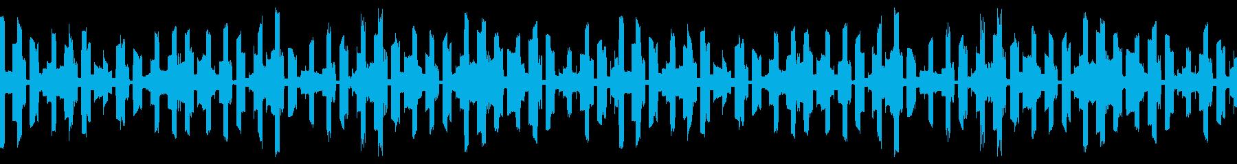 【ループ可】不安を煽るコンピューター音の再生済みの波形