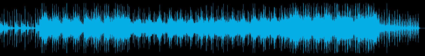 ゆったりしたインディアン風の民族音楽の再生済みの波形
