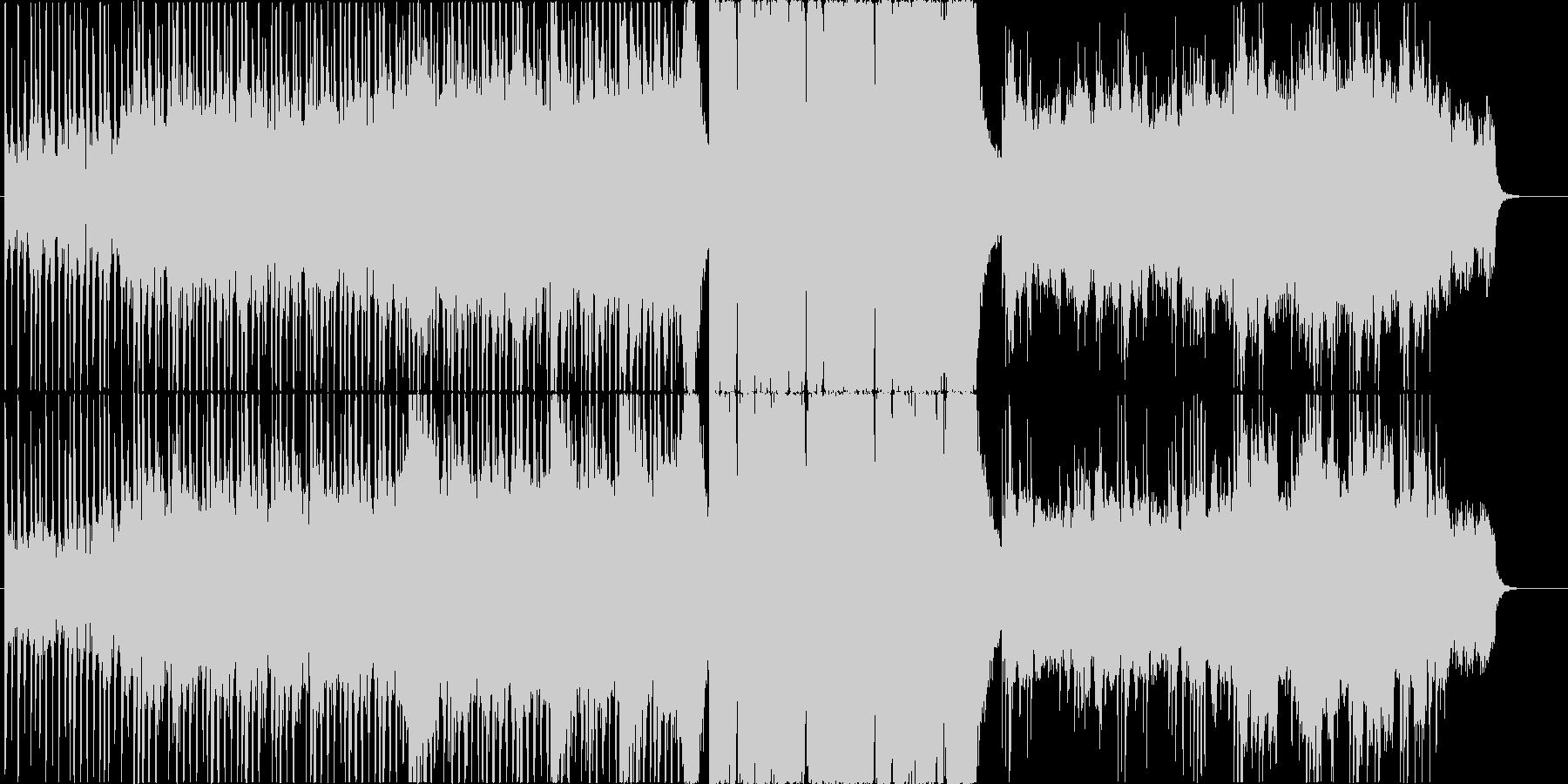 映画の戦闘シーンのイメージの未再生の波形