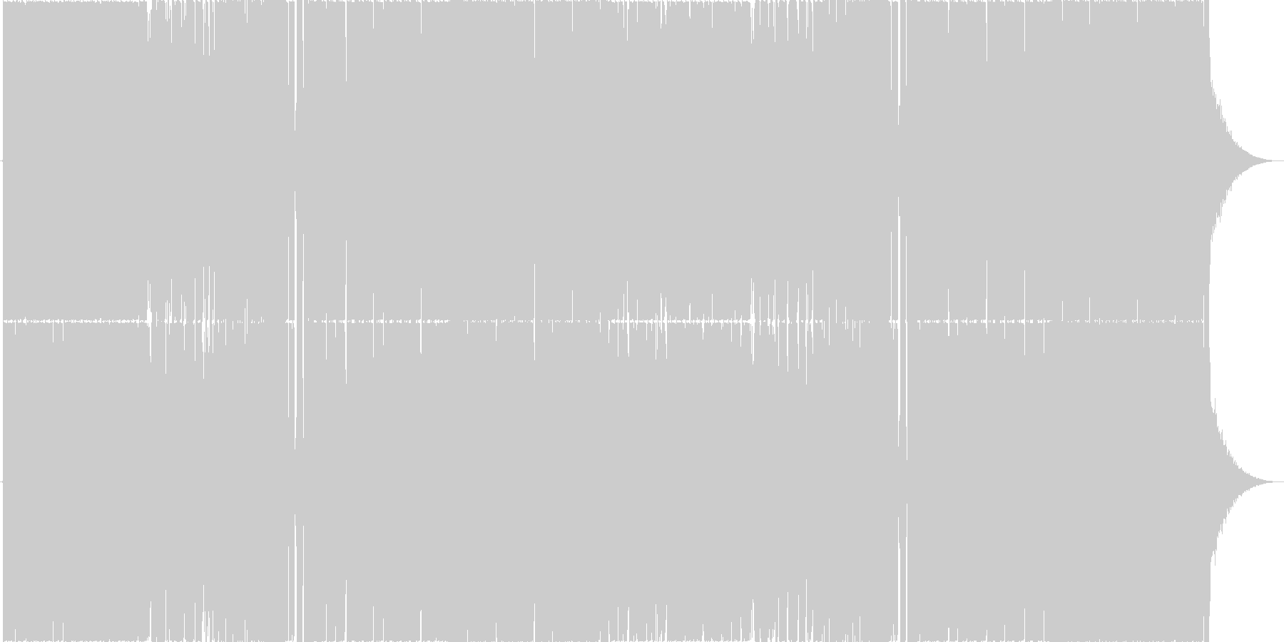 オシャレなHouseの未再生の波形