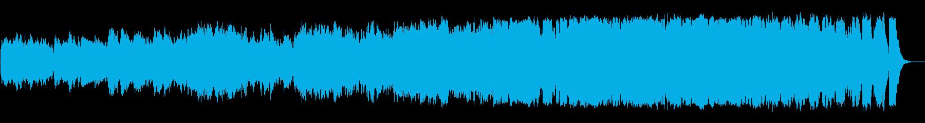 雄大で優雅なヒーリングミュージックの再生済みの波形