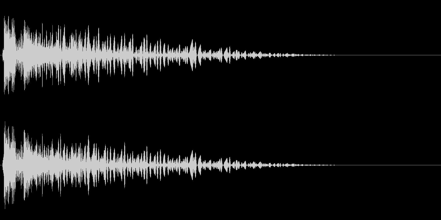 ドスンッ、ドンッ(軽めのレーザービーム)の未再生の波形