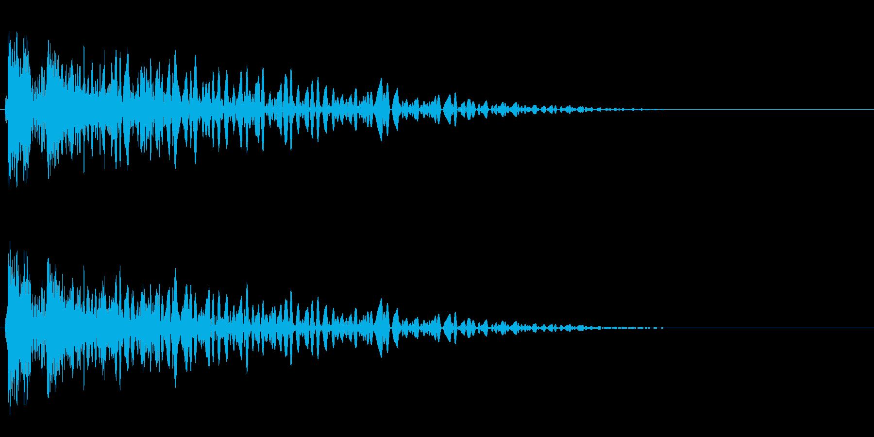 ドスンッ、ドンッ(軽めのレーザービーム)の再生済みの波形
