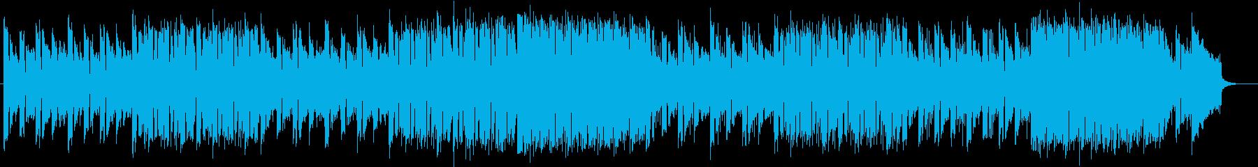 アップテンポなリズムが特徴のポップの再生済みの波形