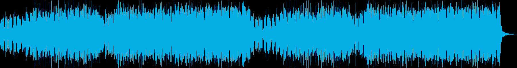 ボス戦前の緊張感あるシンセオーケストラ曲の再生済みの波形