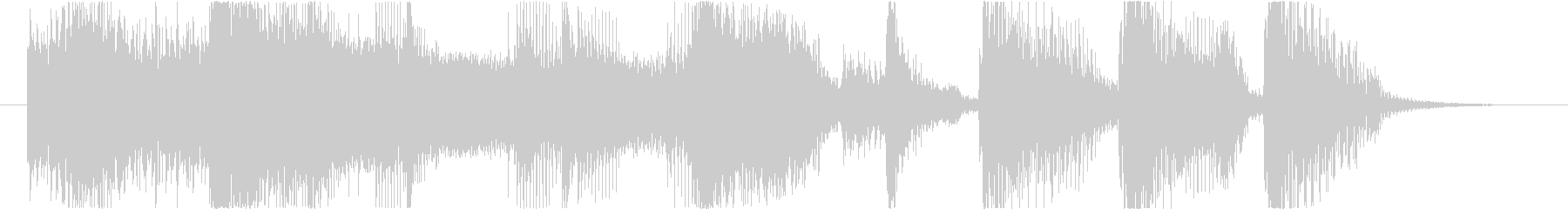 カッコ良いファンク オチ 場面展開 ロゴの未再生の波形