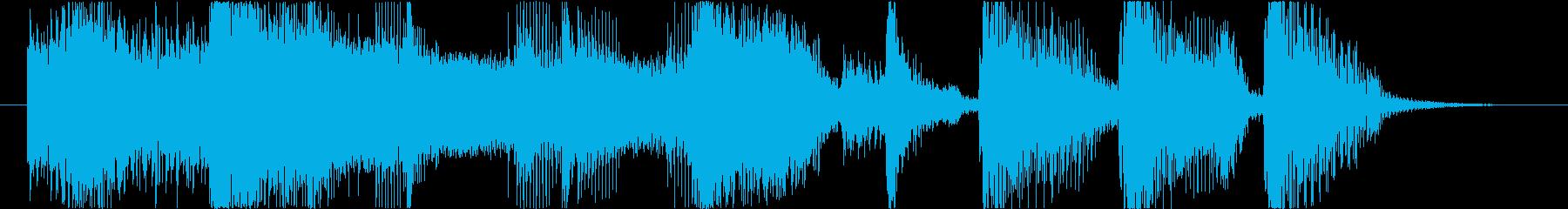 カッコ良いファンク オチ 場面展開 ロゴの再生済みの波形