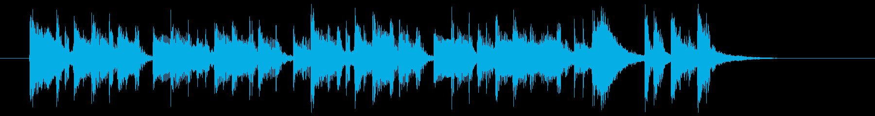 アップテンポなポップスバンドのジングル曲の再生済みの波形