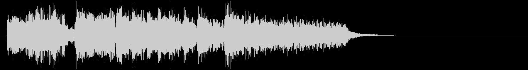 バリトンサックスのボサノバ系サウンドロゴの未再生の波形