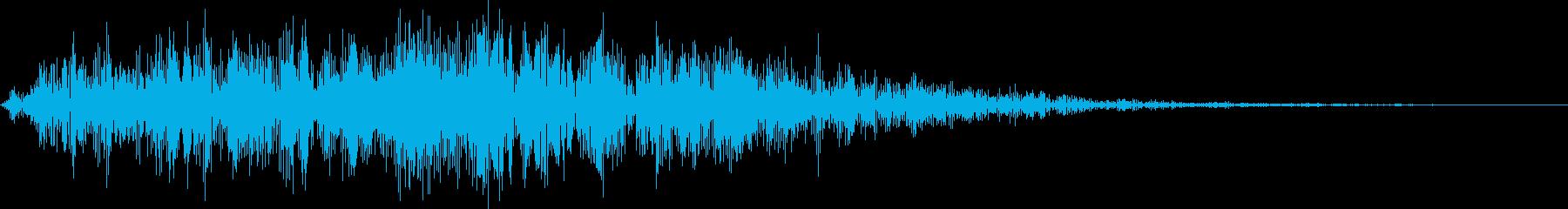 祟り・呪い(ノイズ有り)2の再生済みの波形