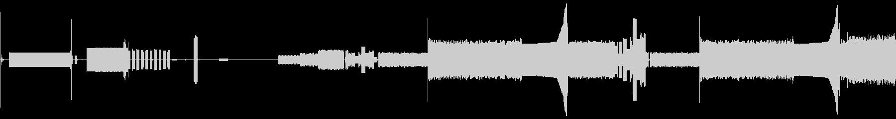 トーン電話モデム静的bの未再生の波形