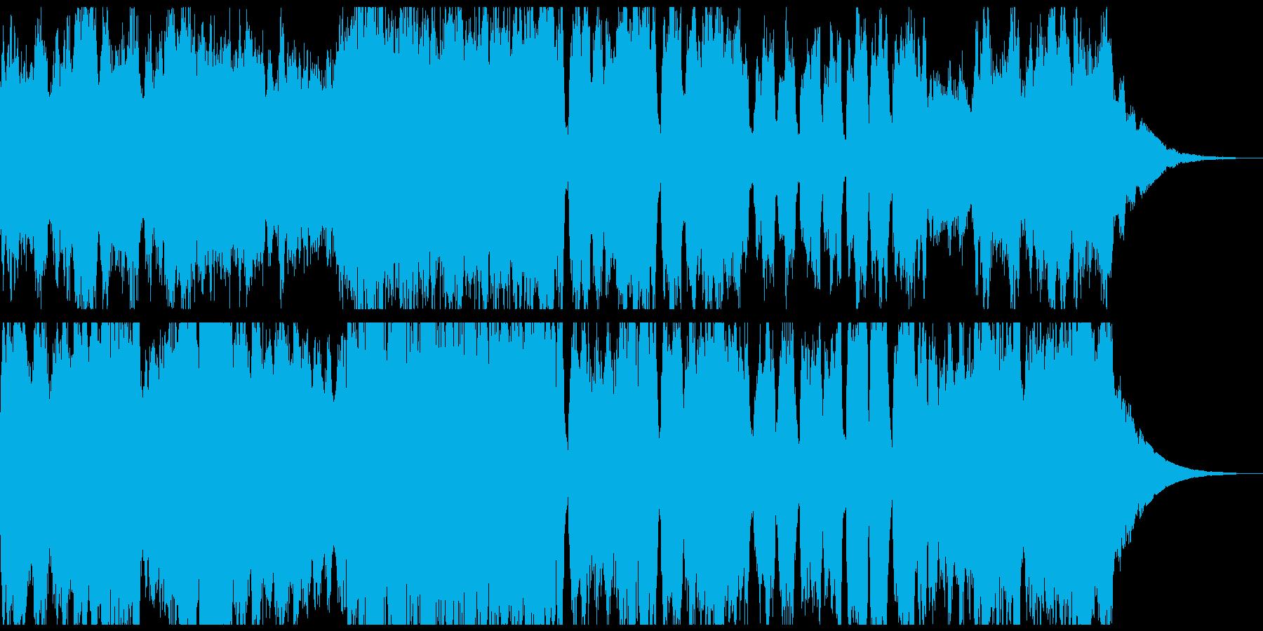 禍々しいオーケストラのダンジョン曲の再生済みの波形