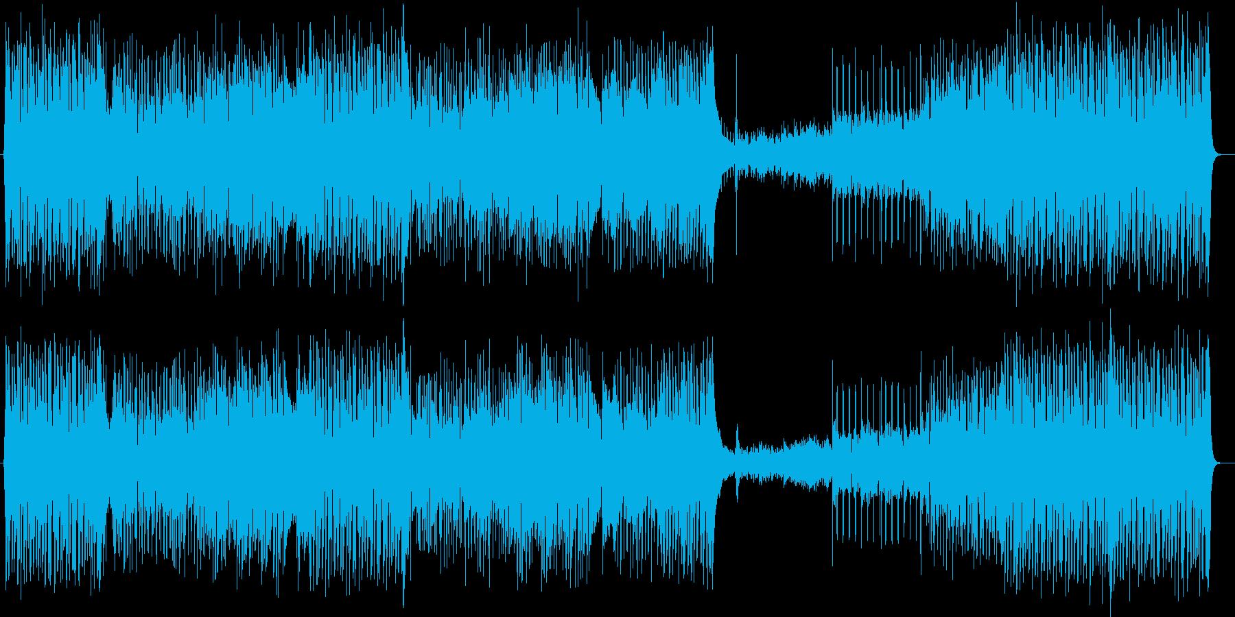 ミディアムテンポの爽やかなポップスの再生済みの波形