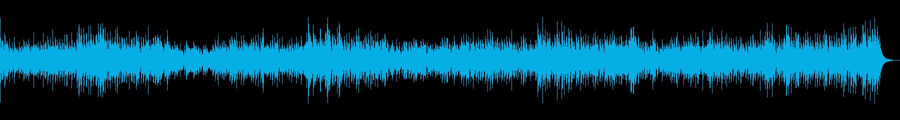 バリ島の竹製マリンバと打楽器によるリズムの再生済みの波形
