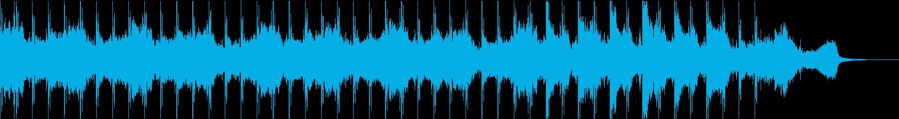 ノスタルジックなイメージのアンビエントの再生済みの波形