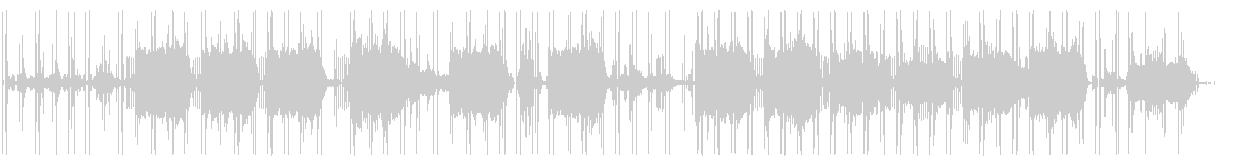 ピアノが印象的なアブストラクトビートの未再生の波形