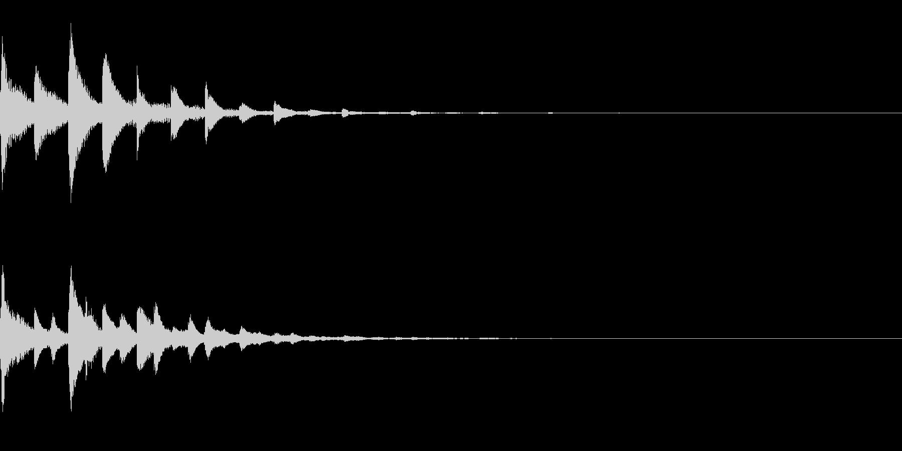 ピポパポ(テクノ/癒し系/ファミコン綺麗の未再生の波形
