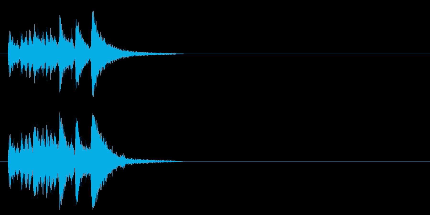 ジャズ系ジングルの再生済みの波形