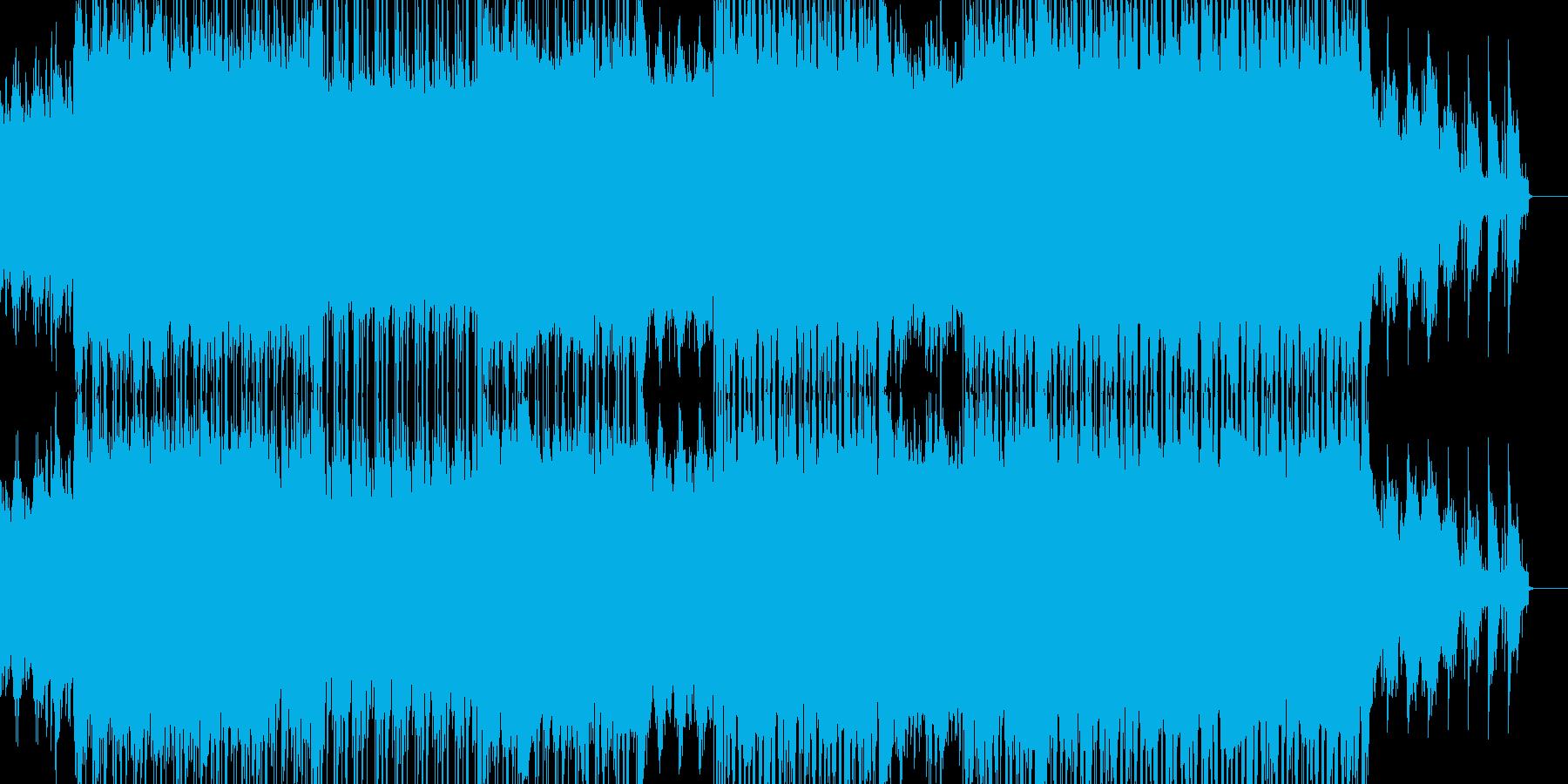 【映像系】ロックから透き通るコーラスへの再生済みの波形