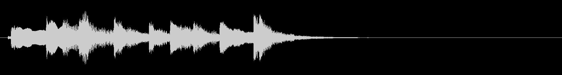 和風 シンプルな琴のジングル5の未再生の波形